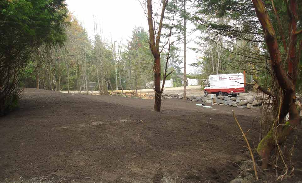 Sand mound disposal area completed landscaping